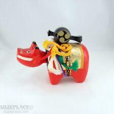 VINTAGE JAPANESE AKABEKO RED COW LUCKY CHARM HARIKO PAPER MACHE RARE
