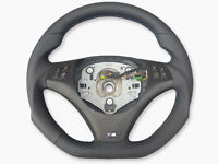 Échange Aplati Volant en Cuir BMW M-POWER E82 E84 E87 E88 E90 E91 Neuf Cuir