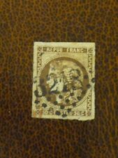 FRANCE 1870 35c deep brown Bordeaux issue vf 4 margin imperf 3218 GC cancel