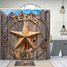 Texas Star Shower Curtain Bathroom Decor Fabric & 12hooks 71""