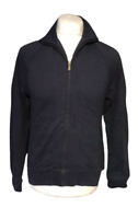 Ted Baker Men's Zip Jumper Jacket Size 2 Small Blue 100% Cotton Spell Out