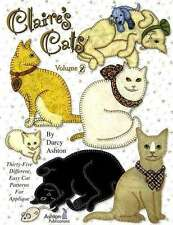 CLAIRE'S CATS VOLUME TWO APPLIQUE DESIGN BOOK, From Ashton Publications NEW