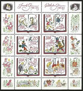 Germany (East) DDR GDR 1985 MNH - Fairy Tales Grimm Brothers Minisheet