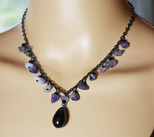 Necklace Choker Calming Amethyst Stones Purple Bead Guard Against Drunkeness