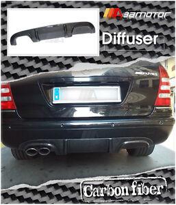 Carbon Fibre Rear Diffuser Single Dual fit for Mercedes W203 C55 C32 AMG Bumper