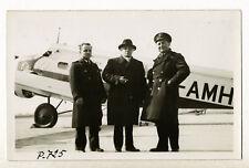 Joseph Paul-Boncour, devant un Wibault 280.T12 Air France - Photo Vintage 1938