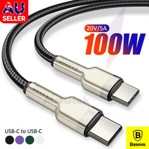 BASEUS PD Quick Fast Charge Data USB-C to Type-C Cable For Samsung S21 Macbook
