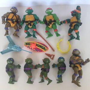 VINTAGE 1988 ORIGINAL Teenage Mutant Ninja Turtles action figures TMNT bundle