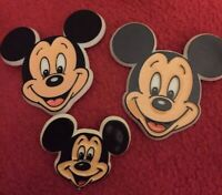 3 Vintage Mickey Mouse Buttons Disneyland Disney