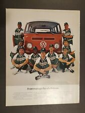Vintage 1969 Volkswagen VW Ad It Can Manage the Whole Team