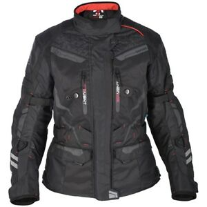 Oxford Monaco Womens Waterproof Long Motorcycle Motorbike Jacket Tech Black