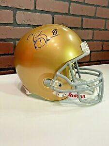 Beckett Certified Tim Brown Notre Dame Full Size Helmet NFL Speed Auto
