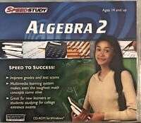 SpeedStudy Algebra 2 Pc Brand New Win10 8 7 XP