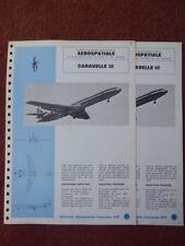 1971 USIAS DOCUMENT AERONAUTIQUE AEROSPATIALE CARAVELLE 12 STERLING AIRWAYS