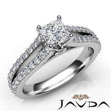 1.65ctw Bezel Sets Princess Diamond Engagement Ring GIA G-VS2 White Gold Rings