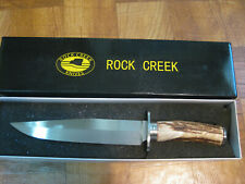 The Rock Creek Bowie New in Box Stag handle