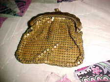 Vintage West Germany Gold Metal Mesh Small Change Purse ISSUES   OS3/2