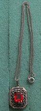 """MAJORCA"" Red Stone Necklace - Sarah Coventry Jewelry - Sara Cov - Vtg"