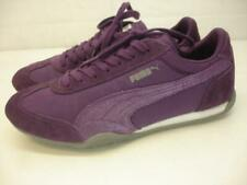Womens 7 M PUMA 76 Runner Fun Sneaker Shoes Purple Glitter Suede Leather Lace-Up