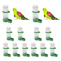10pcs Automatic Bird Feeder Water Bottle Bird Drinker Hanging in Birds Cage