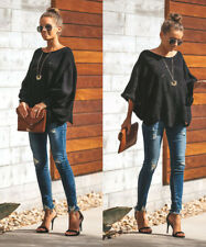 Women Casual Batwing Knitted Sweater Pullover Jumper Sexy Off Shoulder Top Shirt