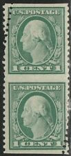 #498a Washington 1c Vertical Pair Imperf Horizontally, Small Crazy Perf CV $800+