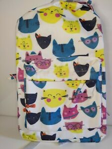 Happy Colorful Kitties CAT Back Pack Unbranded Cheerful Book Bag or Day Bag