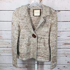 Kenji Womens Button Front Wool Blend Long Sleeve Cardigan Sweater Size M