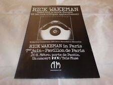 RICK WAKEMAN - Publicité  / Advert !!! VINTAGE 70'S !!! NO EARTHLY CONNECTION !!