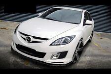 schwarze Spoilerlippe Mazda 6 MK2 Dynamic Sport Bj. 07-10 Frontspoiler Spoiler