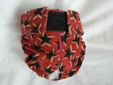 Female Dog Puppy Pet Diaper Washable Pant Sanitary Underwear Black STARS Sm/Md