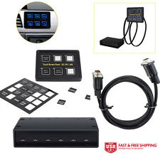 MICTUNING 12V/24V 6 Gang LED Switch Panel Slim Touch Control Panel Box Marine