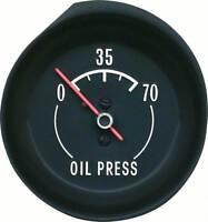 1972-73 Corvette Oil press Gauge - With White Markings