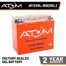 YTX20L-BS Atom Gel Motorcycle Battery 12V 20Ah - Replaces YTX20L-BS