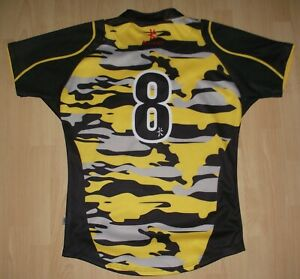 Ultra Rare Melrose 7's #8 Match Worn Rugby Shirt  XL Camouflage Poppy