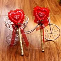 Lace Heart I Love You Rose Decoration Guest Book Quill Sign Pen Wedding Favor