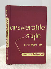 ANSWERABLE STYLE: Essays on PARADISE LOST - Arnold Stein - 1953, JOHN MILTON
