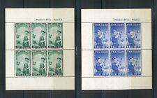New Zealand #B54a-55a  (1958 Scouts Health sheets) VFMNH CV $10