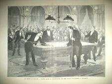 BILLARD MATCH GRAND HOTEL KRACH BOURSE EGYPTE LE CAIRE CITADELLE GRAVURES 1882