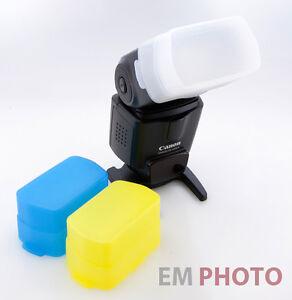3x Blitz Diffusor Set geeignet für Canon Speedlite 430 EX EXII Bounce  Z-0581