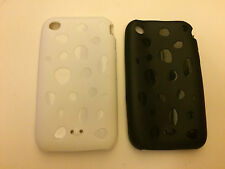 SILICONE RUBBER TPU GEL CASE / COVER / SKIN FOR APPLE iPHONE 3 3GS - 2 COLOURS