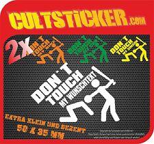 2x DONT TOUCH MY BIKE CAR SIMSON Aufkleber Motorrad Moped Sticker WUNSCHTEXT