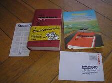 GUIDE ROUGE MICHELIN ITALIA 1989 TBE COMPLETE DE TOUT JAQUETTE LETTRE ENVELOPPE