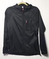 Ideology Womens Small Black Hooded Lightweight Full Zip Athletic Rain Jacket