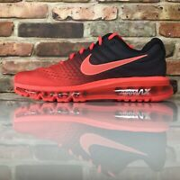 Nike Air Max 2017 Running Shoes Mens Size 12 Bright Crimson Red 849559 600
