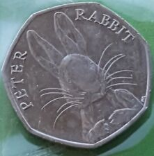 50p coin 2016 Beatrix Potter Peter Rabbit - fifty pence rare coin hunt