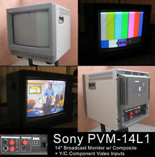 "ALMOST MINT! Sony PVM-14L1 14"" Broadcast Video Monitor Y/C - Gaming - LocalPULA"