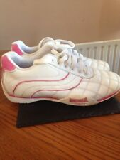 Woman's Trainers white/pink lace up Lonsdale Size 4 comfy