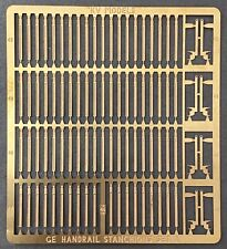 ETCHED HO SCALE GE U,B&C SERIES HANDRAIL STANCHION SET