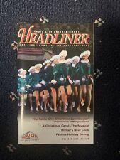 Radio City Headliner Playbill - Holiday 2003 - Rockettes - AMANDA KLOOTS